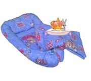 """Кокон-гнездышко для новорожденного Люкс """"Зонтики-2""""+2 ПОДАРКА."""