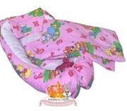 """Кокон-гнездышко для новорожденного Люкс """"Алфавит""""+ 2 ПОДАРКА!"""