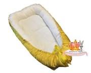 """Кокон-гнездышко для новорожденного премиум """"Желтый атлас"""""""