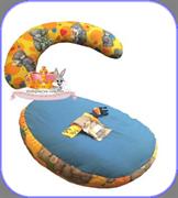 Эргономичная подушка-трансформер для мамы и малыша холлофайбер