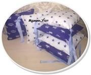 Бортики подушки Короны васильковые комплект 12 шт. 30*30 см.