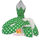 """Кокон-гнездышко для новорожденного комплект """"Зеленый горох""""+ПОДАРОК."""
