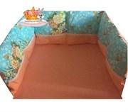 """Бортики в кроватку """"Лель""""комплект из 3-х подушек 60 см.*30см."""